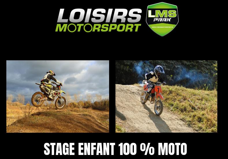 Stage enfant 100% moto