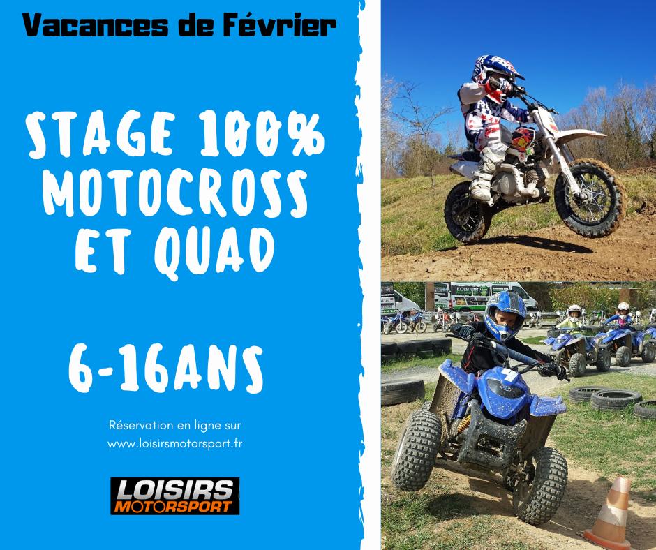 stage motocross et quad enfant proche de Lyon dans le Beaujolais