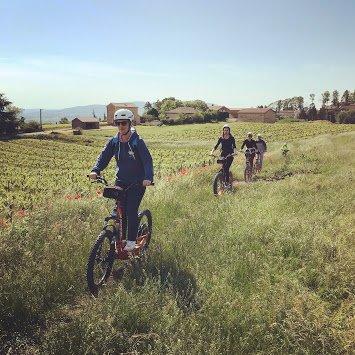 randonnée en trottinette Tout Terrain proche de Lyon dans le Beaujolais à Anse